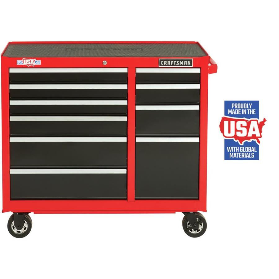 CRAFTSMAN 2000 Series 41-in W x 37 5-in H 10-Drawer Steel Rolling