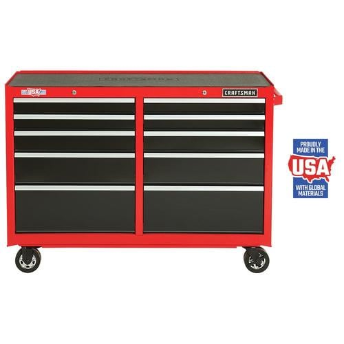 Craftsman 2000 Series 52 In W X 37 5 In H 10 Drawer Steel