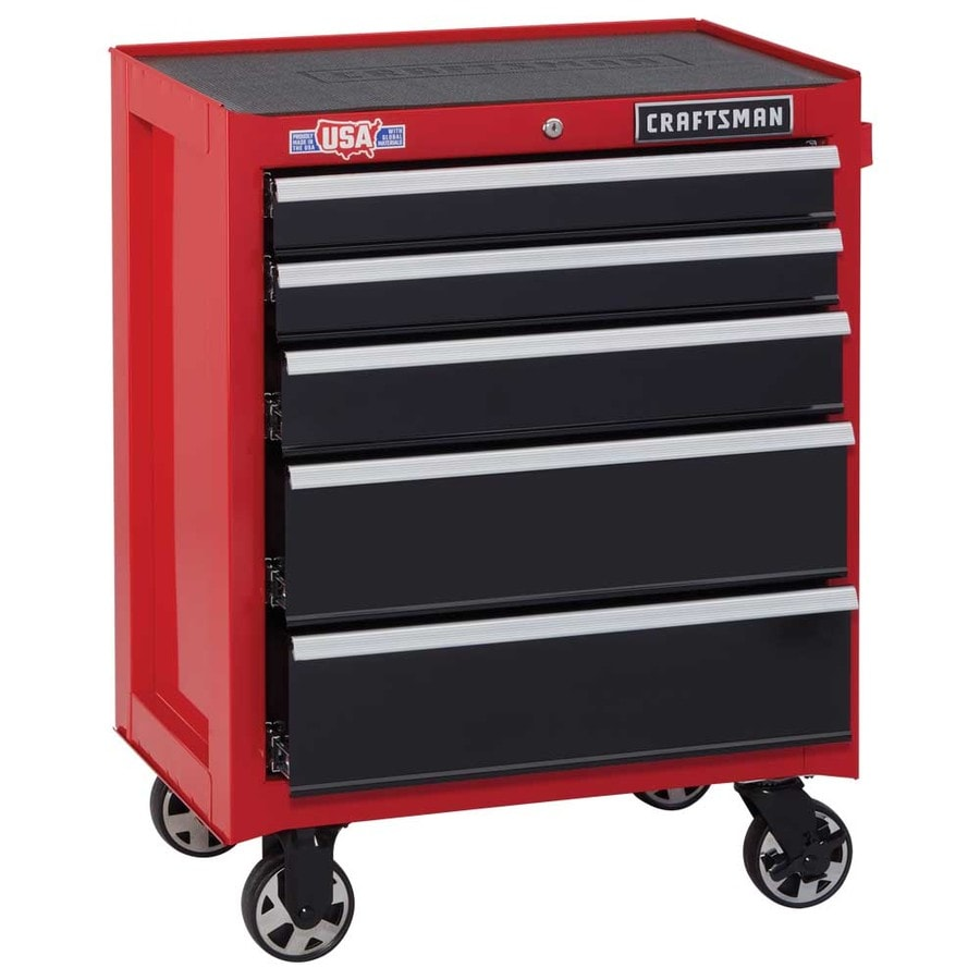 a377960f80c CRAFTSMAN 2000 Series 26.5-in W x 34-in H 5-Drawer Steel Rolling Tool  Cabinet (Red)