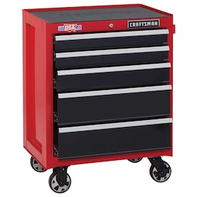 CRAFTSMAN 2000 Series 26.5-in W x 34-in H 5-Drawer Steel Rolling Tool Cabinet (Red)