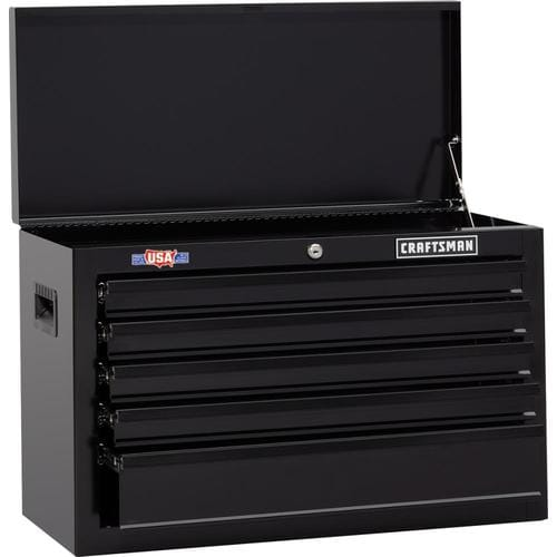 Amazing Craftsman 1000 Series 26 In W X 17 25 In H 5 Drawer Steel Tool Chest Black At Lowes Com Creativecarmelina Interior Chair Design Creativecarmelinacom