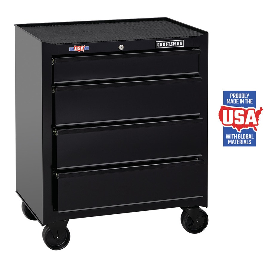CRAFTSMAN 1000 Series 26.5-in W x 32.5-in H 4-Drawer Ball-bearing Steel Tool Cabinet (Black)