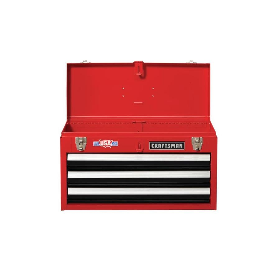 Craftsman 20 5 In 3 Drawer Red Steel Lockable Tool Box