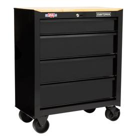 CRAFTSMAN 1000 Series 32.5-in x 26.5-in 4-Drawer Ball-bearing Steel Tool Cabinet (Black)
