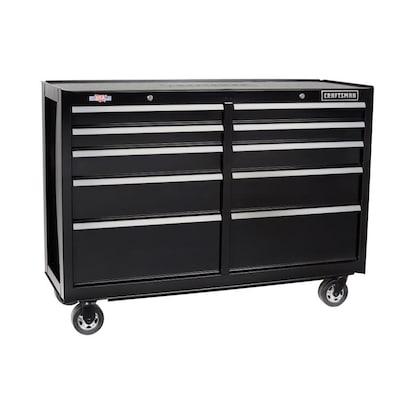 CRAFTSMAN 2000 Series 52-in W x 37.5-in H 10-Drawer Steel Rolling Tool Cabinet (Black)
