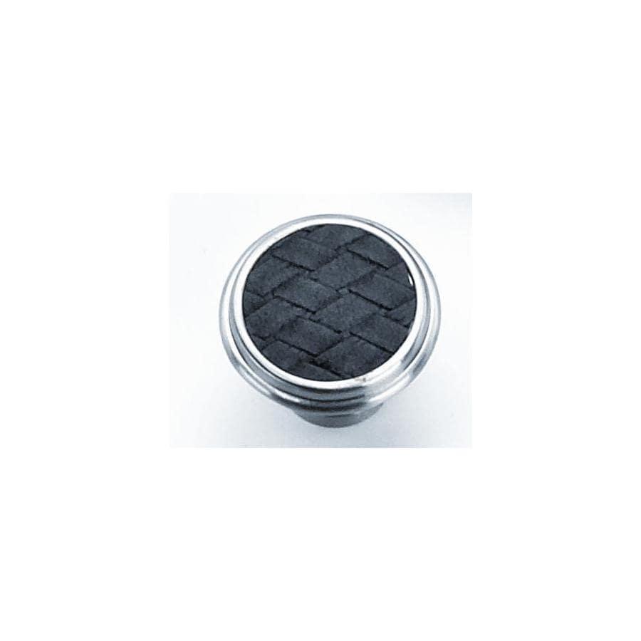 Laurey Churchill Satin Nickel/Black Round Cabinet Knob