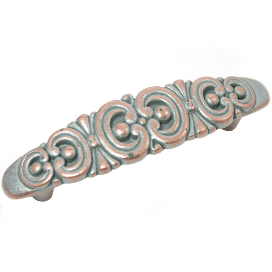 Laurey 3-in Center-to-Center Weathered Nickel Copper Rectangular Cabinet Pull