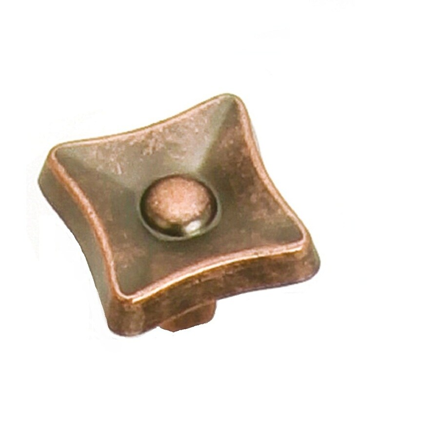 Laurey Antique Copper Square Cabinet Knob