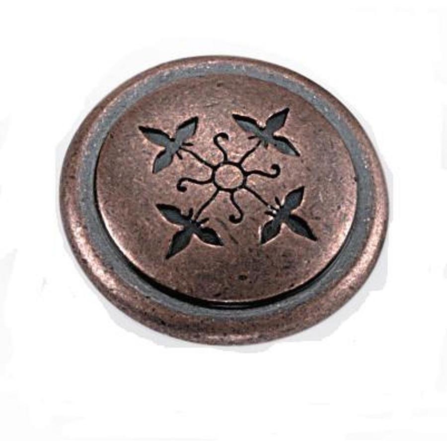 Laurey Aged Copper Round Cabinet Knob