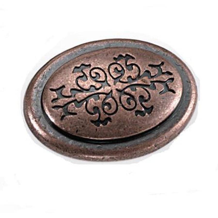 Laurey Antique Copper Oval Cabinet Knob