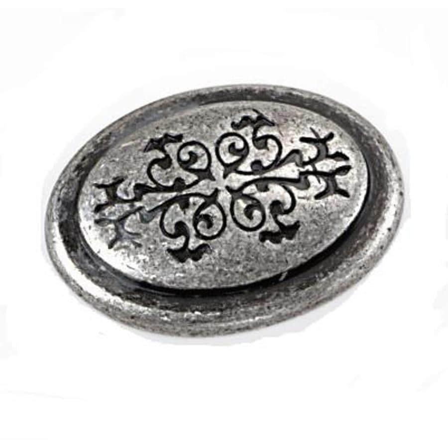 Laurey Antique Silver Oval Cabinet Knob