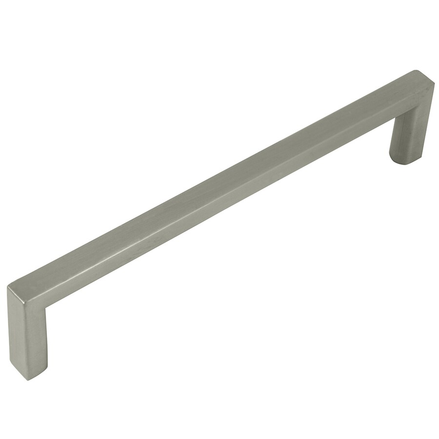 Laurey 5-in Center-to-Center Brushed Satin Nickel Rectangular Cabinet Pull