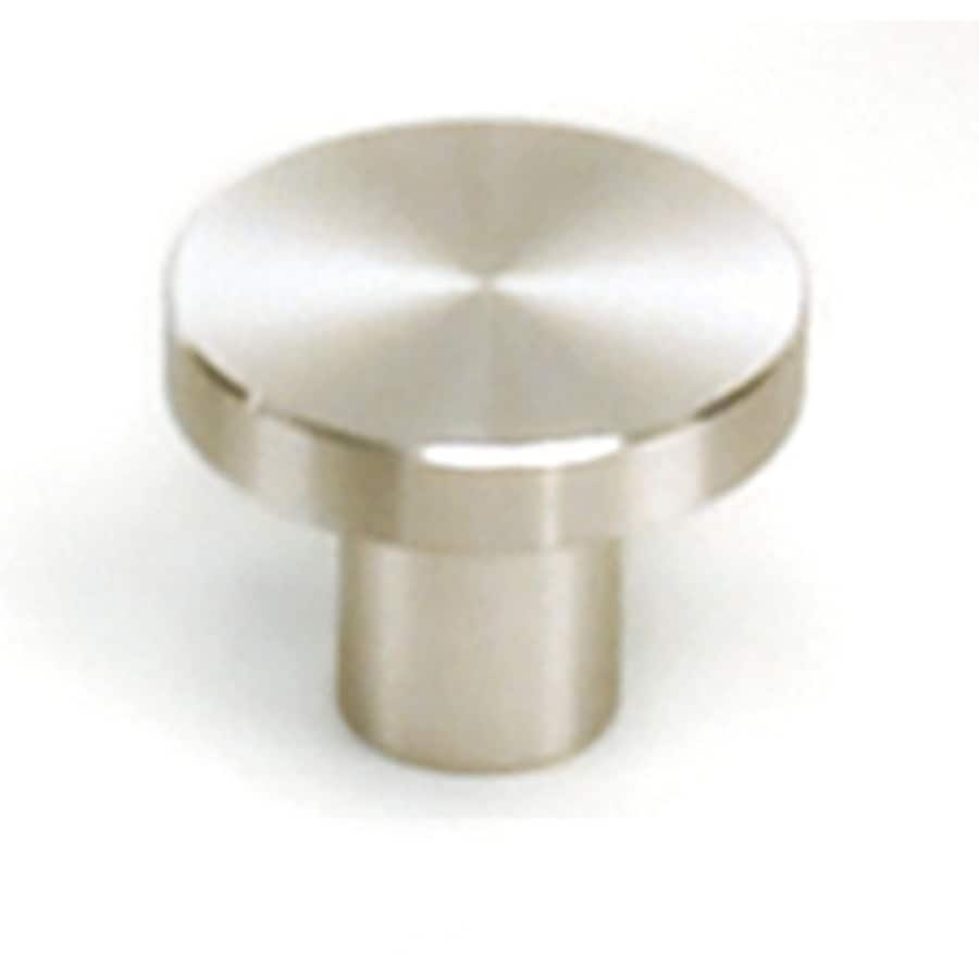 Shop Laurey Melrose Stainless Steel Round Cabinet Knob At