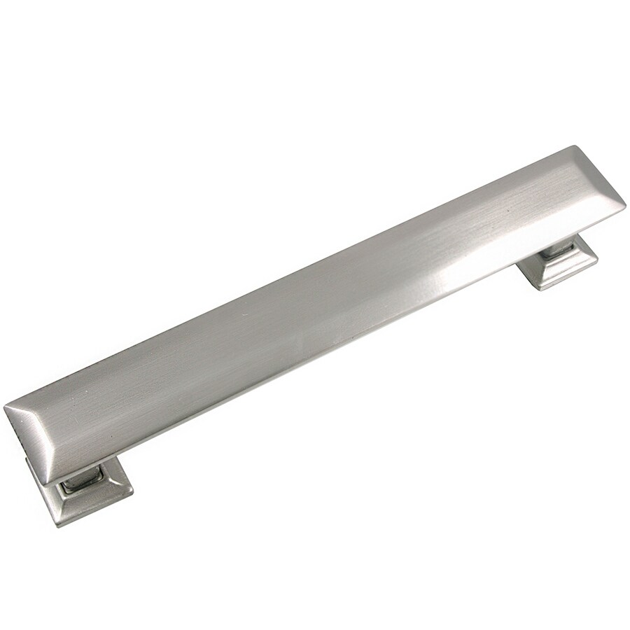 Laurey 5-in Center-to-Center Satin Nickel Rectangular Cabinet Pull
