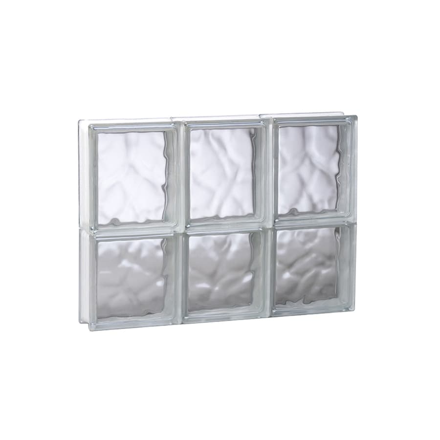 REDI2SET Wavy Pattern Frameless Replacement Glass Block Window (Rough Opening: 17.75-in x 14-in; Actual: 17.25-in x 13.5-in)