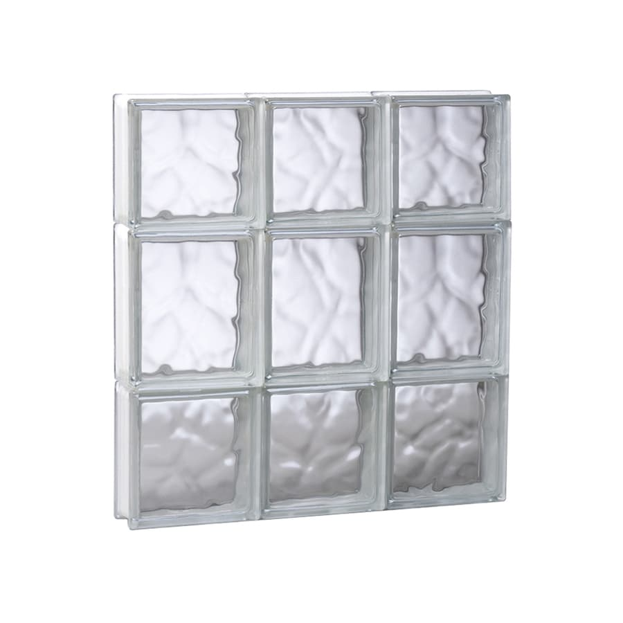 REDI2SET Wavy Glass Pattern Frameless Replacement Glass Block Window (Rough Opening: 17.75-in x 19.75-in; Actual: 17.25-in x 19.25-in)