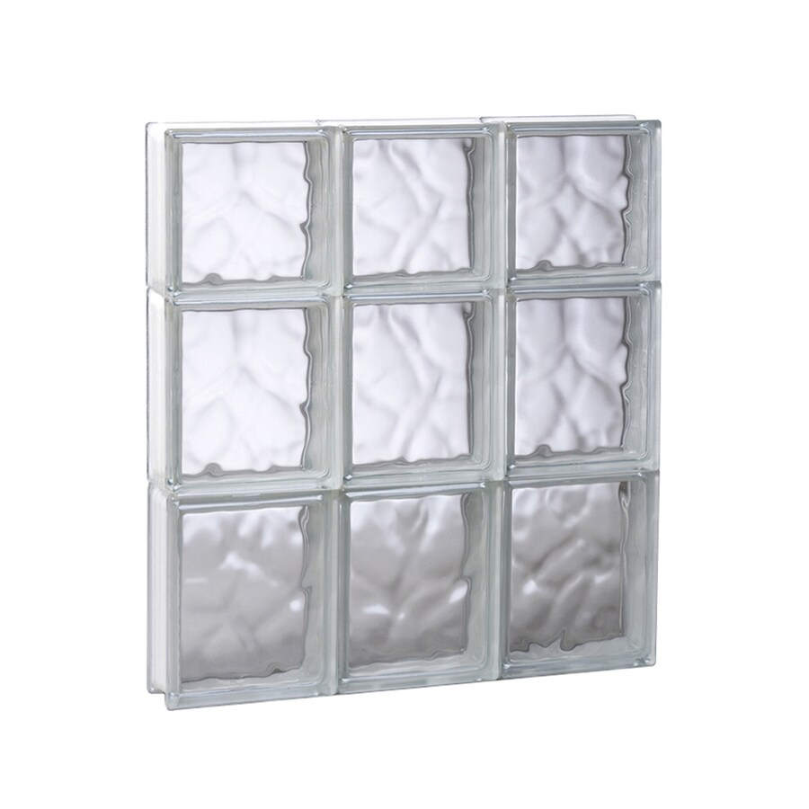 REDI2SET Wavy Glass Pattern Frameless Replacement Glass Block Window (Rough Opening: 17.75-in x 21.75-in; Actual: 17.25-in x 21.25-in)