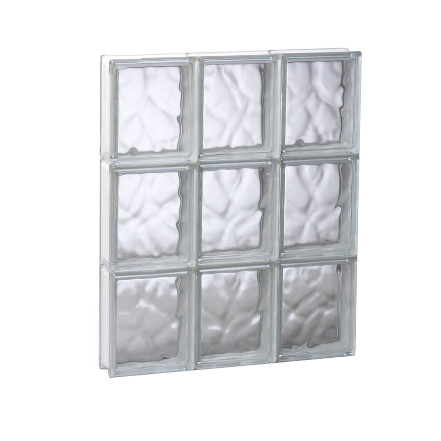 REDI2SET Wavy Glass Pattern Frameless Replacement Glass Block Window (Rough Opening: 17.75-in x 23.75-in; Actual: 17.25-in x 23.25-in)