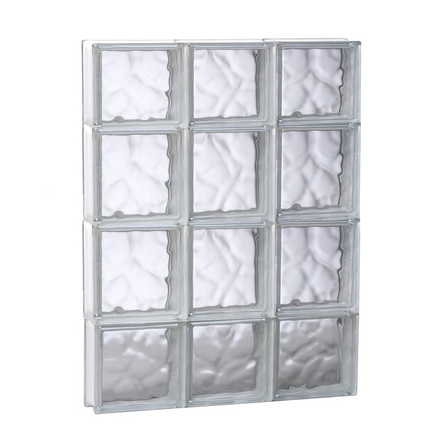 REDI2SET Wavy Glass Pattern Frameless Replacement Glass Block Window (Rough Opening: 17.75-in x 27.5-in; Actual: 17.25-in x 27-in)