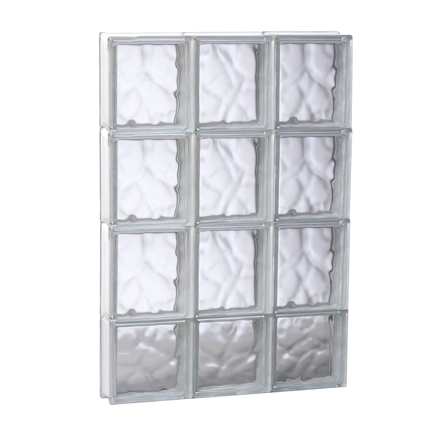 REDI2SET Wavy Glass Pattern Frameless Replacement Glass Block Window (Rough Opening: 17.75-in x 29.5-in; Actual: 17.25-in x 29-in)