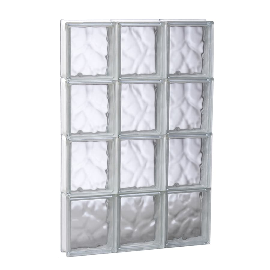 REDI2SET Wavy Glass Pattern Frameless Replacement Glass Block Window (Rough Opening: 17.75-in x 31.5-in; Actual: 17.25-in x 31-in)