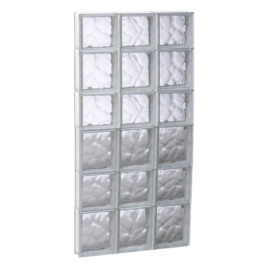 REDI2SET Wavy Glass Pattern Frameless Replacement Glass Block Window (Rough Opening: 17.7500-in x 41-in; Actual: 17.2500-in x 40.5000-in)