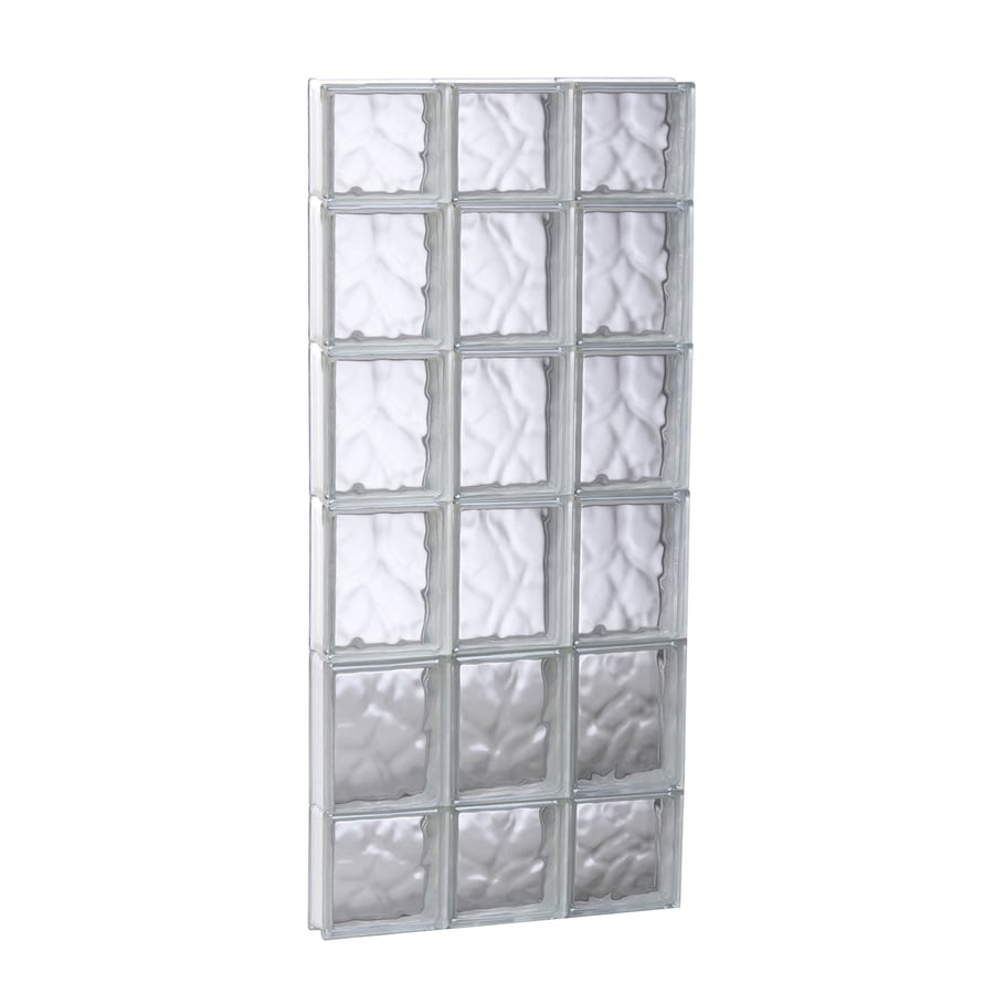 REDI2SET Wavy Glass Pattern Frameless Replacement Glass Block Window (Rough Opening: 17.75-in x 43-in; Actual: 17.25-in x 42.5-in)