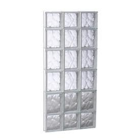 Redi2set Wavy Gl Pattern Frameless Replacement Clear Block Window Rough Opening 17 75