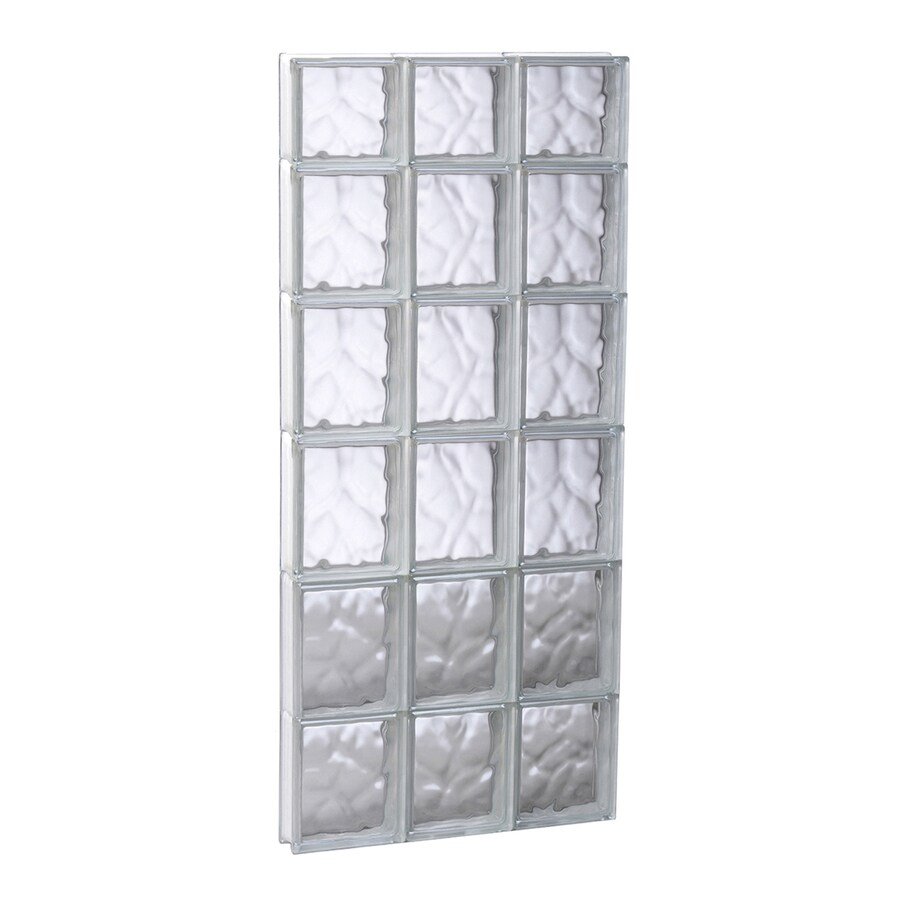 REDI2SET Wavy Glass Pattern Frameless Replacement Glass Block Window (Rough Opening: 17.75-in x 45-in; Actual: 17.25-in x 44.5-in)