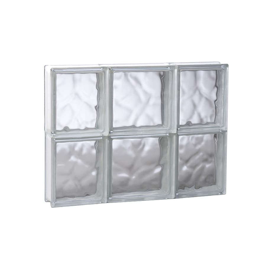 REDI2SET Wavy Glass Pattern Frameless Replacement Glass Block Window (Rough Opening: 19.7500-in x 16-in; Actual: 19.2500-in x 15.5000-in)