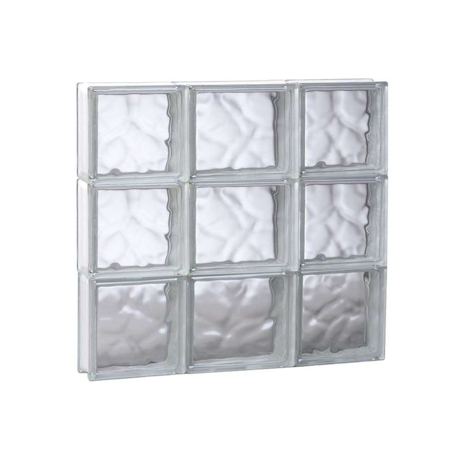 REDI2SET Wavy Glass Pattern Frameless Replacement Glass Block Window (Rough Opening: 19.75-in x 17.75-in; Actual: 19.25-in x 17.25-in)
