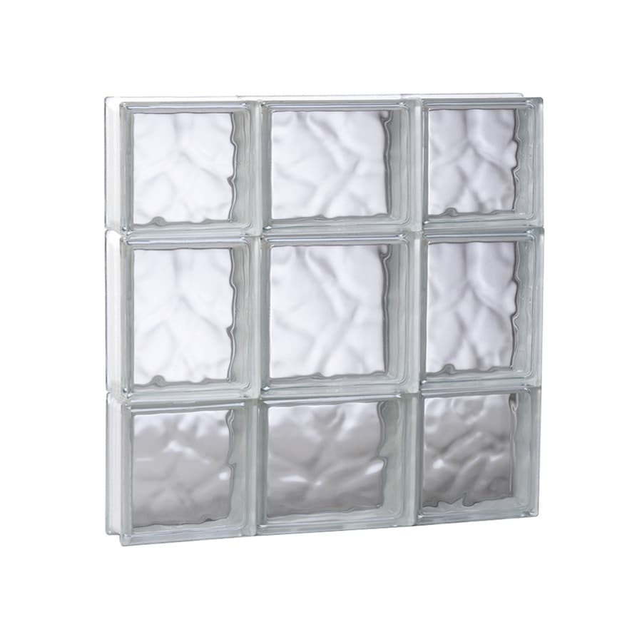 REDI2SET Wavy Glass Pattern Frameless Replacement Glass Block Window (Rough Opening: 19.7500-in x 19.7500-in; Actual: 19.2500-in x 19.2500-in)