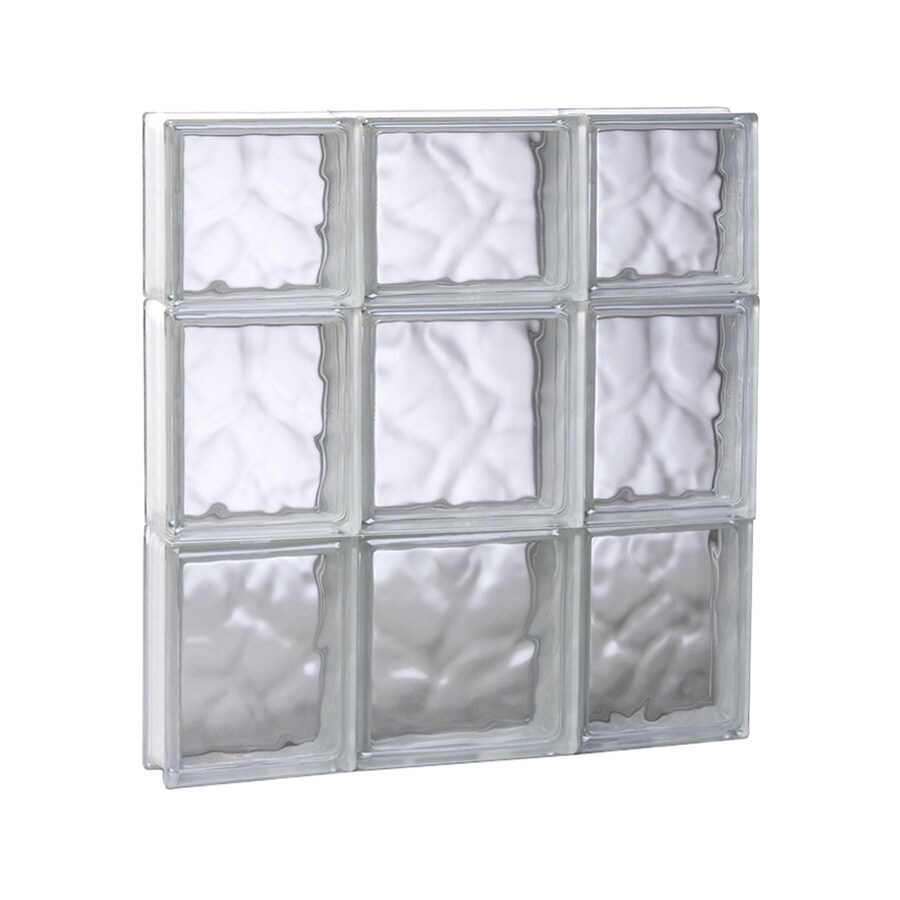 REDI2SET Wavy Glass Pattern Frameless Replacement Glass Block Window (Rough Opening: 19.75-in x 21.75-in; Actual: 19.25-in x 21.25-in)