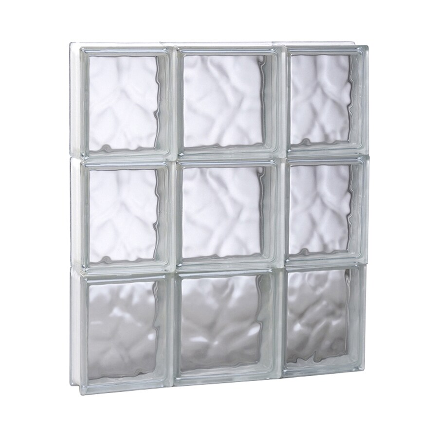 REDI2SET Wavy Glass Pattern Frameless Replacement Glass Block Window (Rough Opening: 19.75-in x 23.75-in; Actual: 19.25-in x 23.25-in)