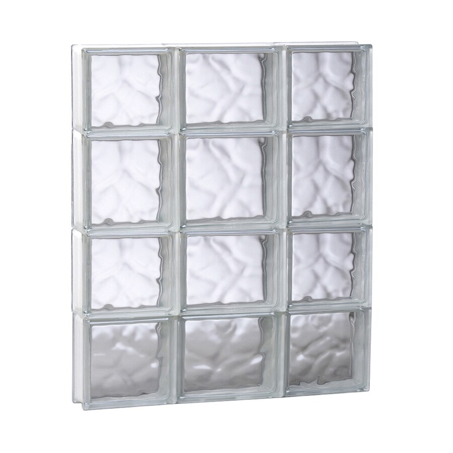 REDI2SET Wavy Glass Pattern Frameless Replacement Glass Block Window (Rough Opening: 19.75-in x 25.5-in; Actual: 19.25-in x 25-in)