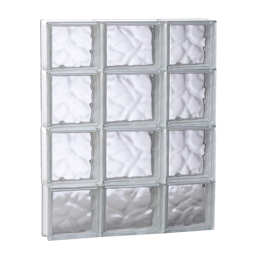 REDI2SET Wavy Glass Pattern Frameless Replacement Glass Block Window (Rough Opening: 19.7500-in x 27.5000-in; Actual: 19.2500-in x 27-in)