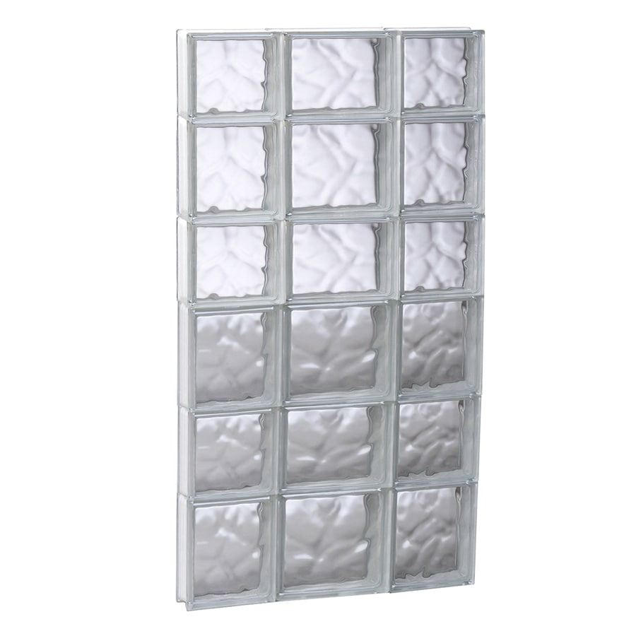 REDI2SET Wavy Glass Pattern Frameless Replacement Glass Block Window (Rough Opening: 19.75-in x 41-in; Actual: 19.25-in x 40.5-in)