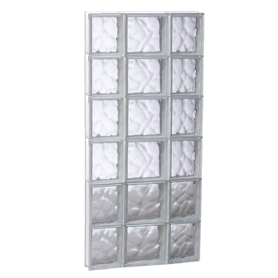 REDI2SET Wavy Glass Pattern Frameless Replacement Glass Block Window (Rough Opening: 19.75-in x 47-in; Actual: 19.25-in x 46.5-in)