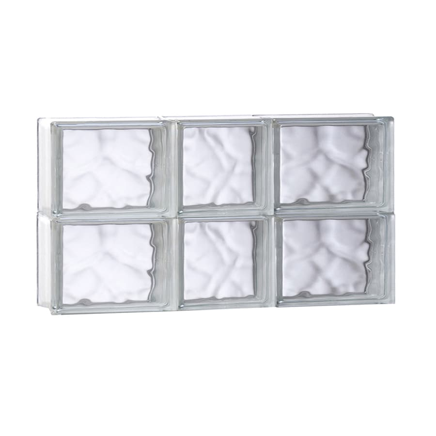 REDI2SET Wavy Glass Pattern Frameless Replacement Glass Block Window (Rough Opening: 21.75-in x 12-in; Actual: 21.25-in x 11.5-in)