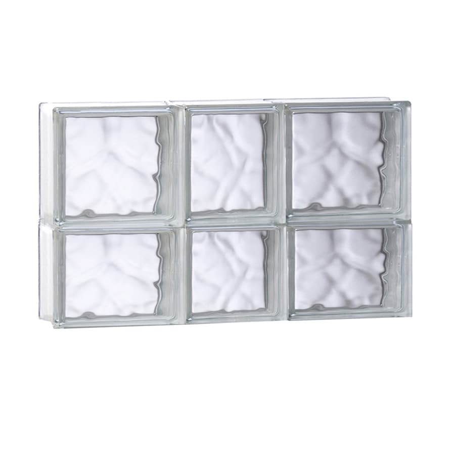 REDI2SET Wavy Glass Pattern Frameless Replacement Glass Block Window (Rough Opening: 21.75-in x 14-in; Actual: 21.25-in x 13.5-in)
