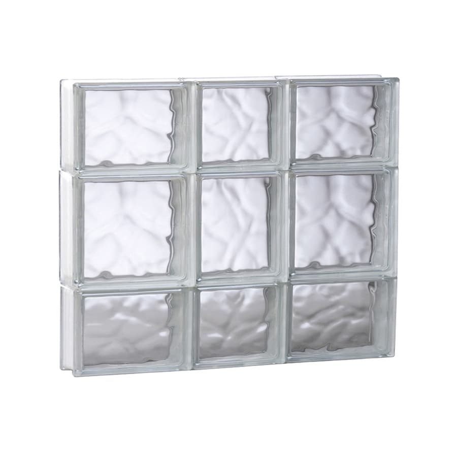 REDI2SET Wavy Glass Pattern Frameless Replacement Glass Block Window (Rough Opening: 21.75-in x 19.75-in; Actual: 21.25-in x 19.25-in)