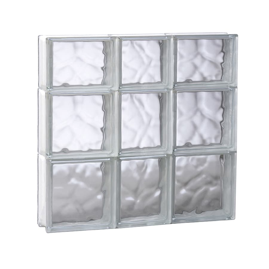 REDI2SET Wavy Glass Pattern Frameless Replacement Glass Block Window (Rough Opening: 21.75-in x 21.75-in; Actual: 21.25-in x 21.25-in)
