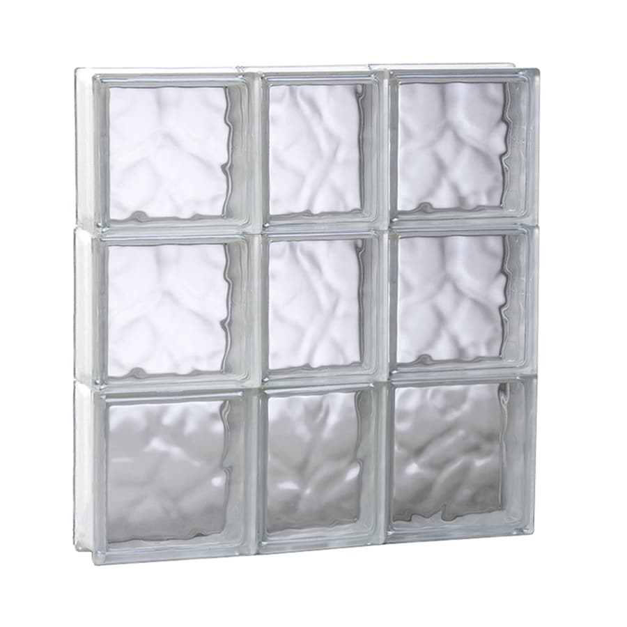 REDI2SET Wavy Glass Pattern Frameless Replacement Glass Block Window (Rough Opening: 21.75-in x 23.75-in; Actual: 21.25-in x 23.25-in)