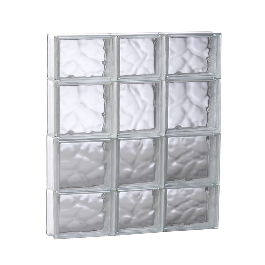 REDI2SET Wavy Glass Pattern Frameless Replacement Glass Block Window (Rough Opening: 21.75-in x 27.5-in; Actual: 21.25-in x 27-in)