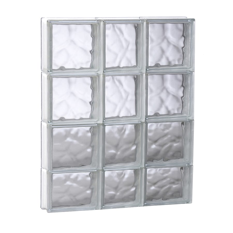 REDI2SET Wavy Glass Pattern Frameless Replacement Glass Block Window (Rough Opening: 21.75-in x 29.5-in; Actual: 21.25-in x 29-in)
