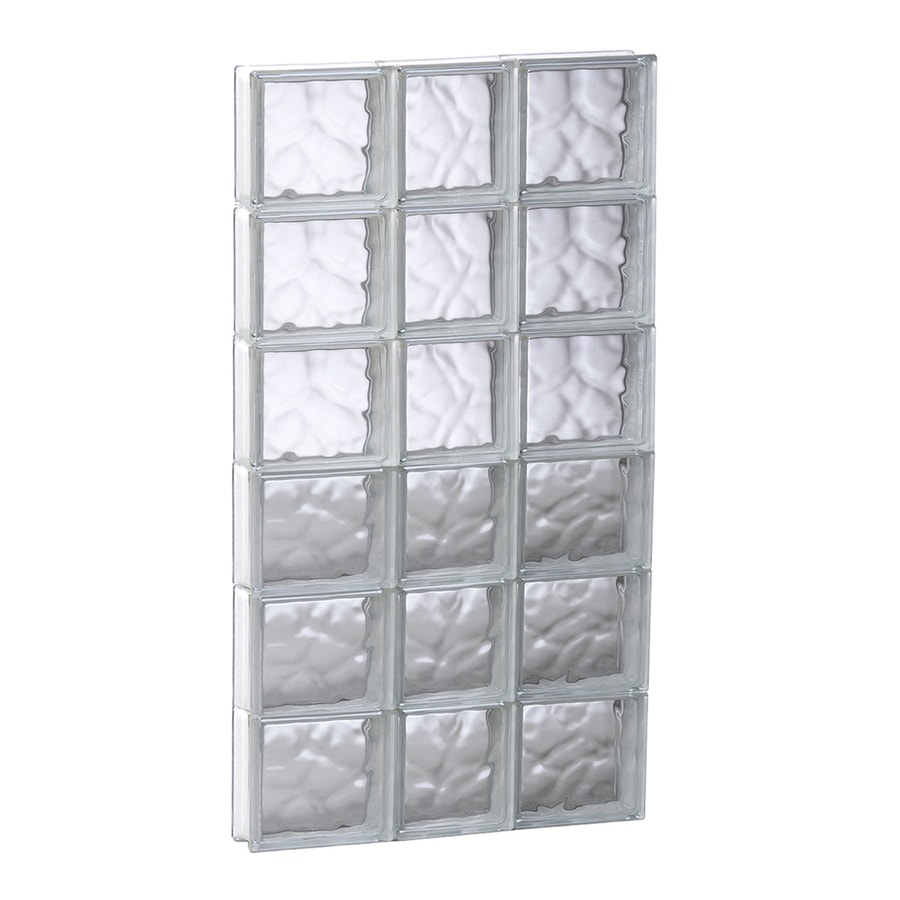 REDI2SET Wavy Glass Pattern Frameless Replacement Glass Block Window (Rough Opening: 21.75-in x 47-in; Actual: 21.25-in x 46.5-in)