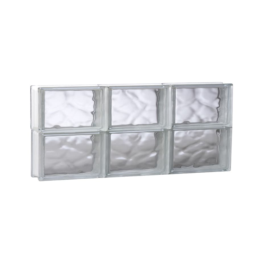 REDI2SET Wavy Pattern Frameless Replacement Glass Block Window (Rough Opening: 23.75-in x 12-in; Actual: 23.25-in x 11.5-in)