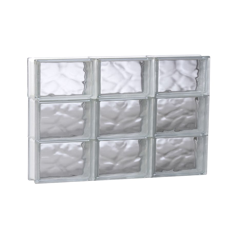 REDI2SET Wavy Glass Pattern Frameless Replacement Glass Block Window (Rough Opening: 23.75-in x 17.75-in; Actual: 23.25-in x 17.25-in)