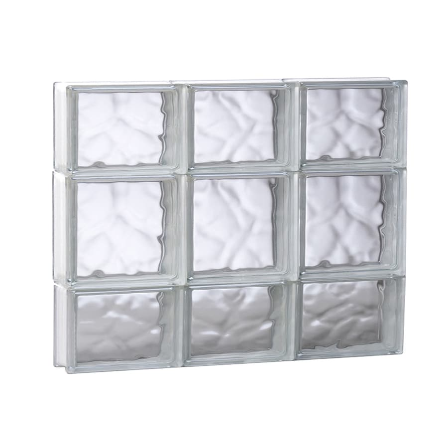 REDI2SET Wavy Glass Pattern Frameless Replacement Glass Block Window (Rough Opening: 23.75-in x 19.75-in; Actual: 23.25-in x 19.25-in)
