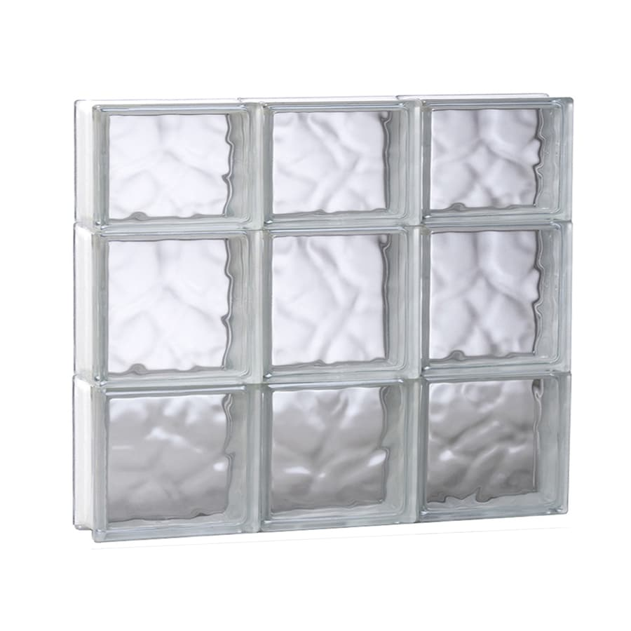 REDI2SET Wavy Glass Pattern Frameless Replacement Glass Block Window (Rough Opening: 23.75-in x 21.75-in; Actual: 23.25-in x 21.25-in)